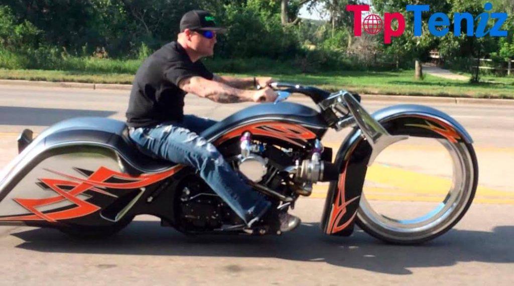 Hubless Harley Davidson